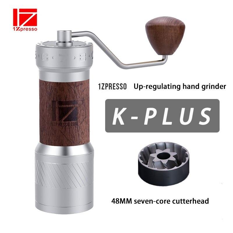1Zpresso kplus-مطحنة قهوة يدوية من الألومنيوم ، مطحنة لدغ من الفولاذ المقاوم للصدأ قابلة للتعديل ، مطحنة حبوب صغيرة 40 جرام