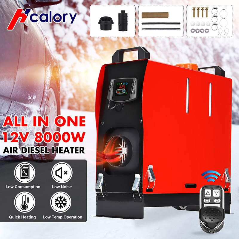 All In One Air 12V Diesels Car Parking Heater 1KW-8KW Adjustable For Trucks Motor-Homes Boats Bus +L