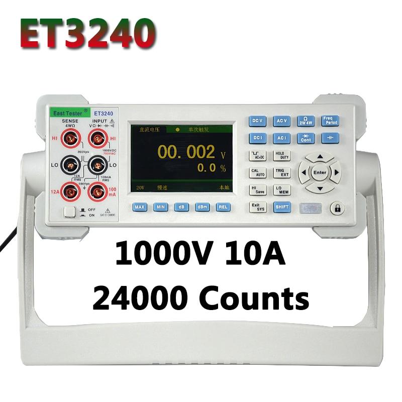 Multímetro de escritorio ET3240 automático 22000 recuentos multímetro Digital con 3,5 pulgadas TFT pantalla grande alta precisión Hz Tester