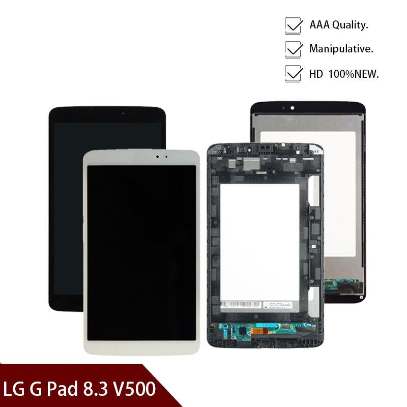جديد 8.3 ''بوصة ل LG G الوسادة 8.3 V500 مع الإطار و لا الإطار شاشة الكريستال السائل محول الأرقام الزجاج الجمعية شحن مجاني
