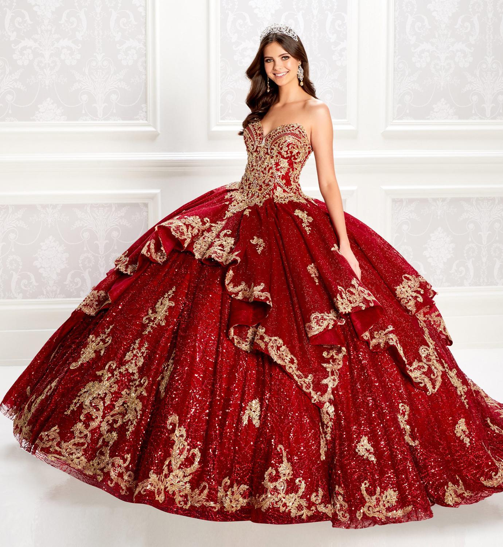 فستان الأميرة النبيذ Quinceanera ، الدانتيل ، الترتر ، ثوب الكرة ، الحلو 16