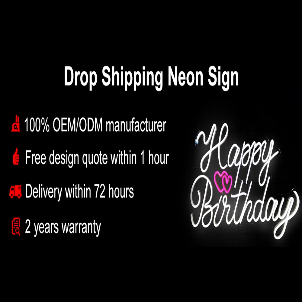 Drop shipping Neon Signs Custom Neon Led Lamp Light  For Wall Decoration home decor Wedding Party Birthday Name Personalized enlarge