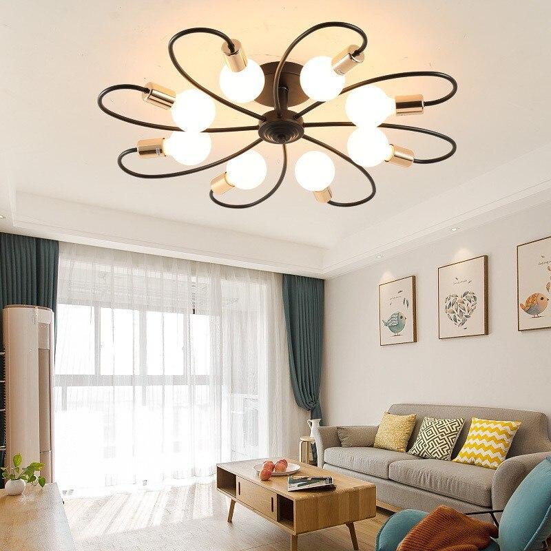 الشمال غرف معيشة مصباح السقف الحديثة الإبداعية غرفة نوم رئيسية مصباح النمط الأمريكي بسيط غرفة الطعام غرفة المقهى Led الإضاءة