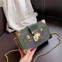 drilling bag womens 2021 new fashion contrast color chain shoulder messenger bag box small square bag designer bags luxury