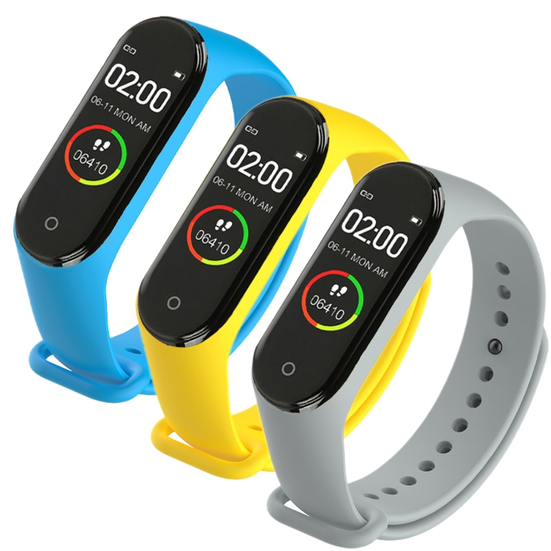 Bluetooth Connection M4 Smart Wearable Device Bracelet Heart Rate Blood Pressure Monitor Men Waterproof Sport Fitness Watches