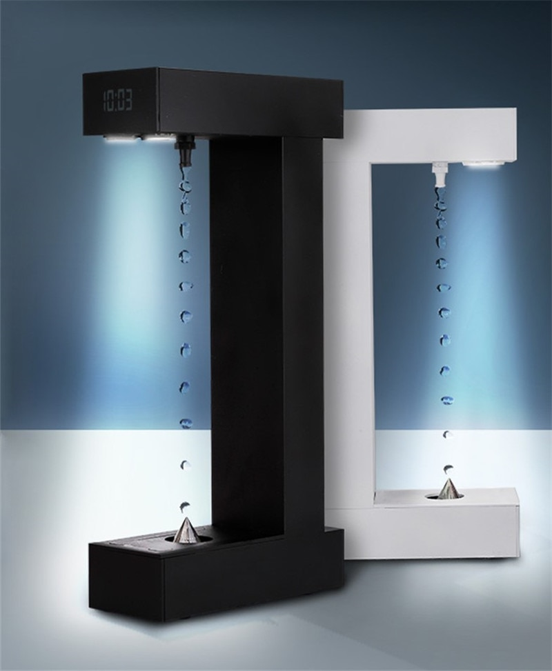 Anti-Gravity Water Drops Back Flow Office Decoration Creative Personality Modern Time Hourglass
