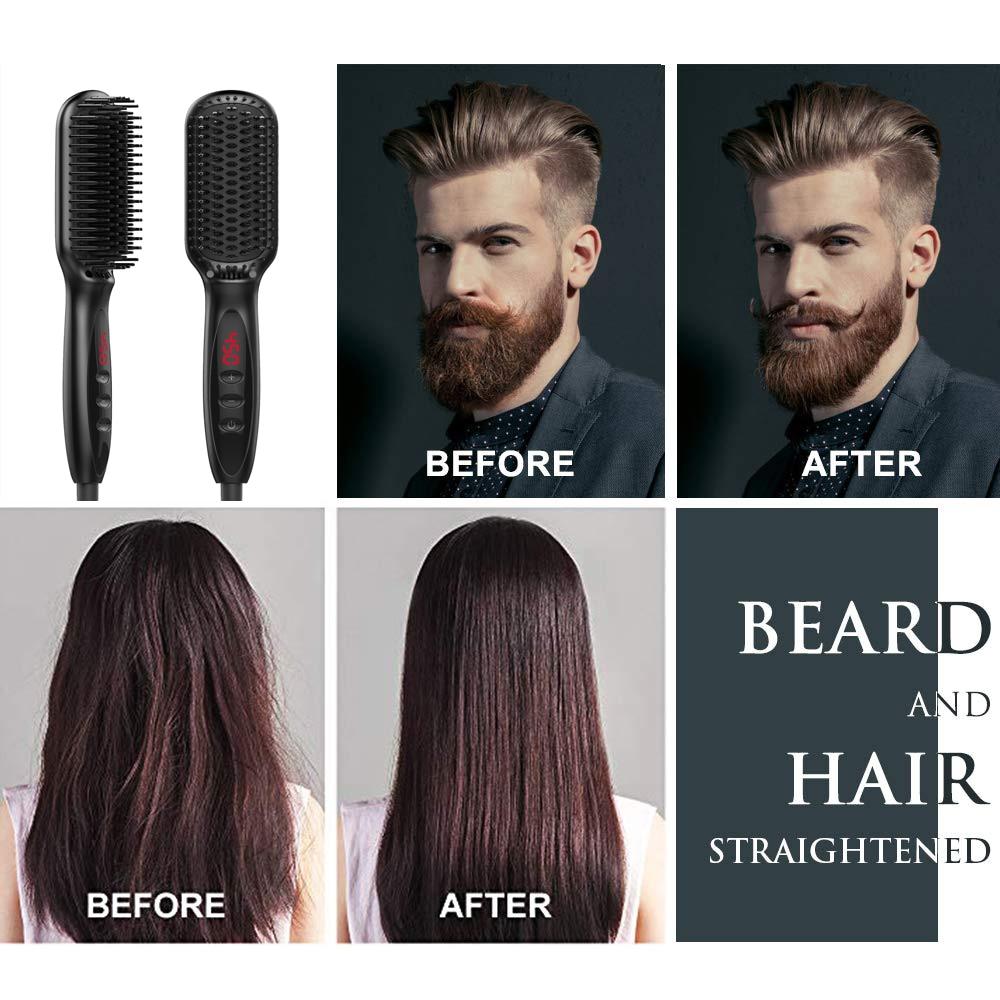 Alisador de Barba Pente para Homem Profissional Pente Quente Escova Cabelo Alisamento Cerâmica Alisador Estilo Elétrica