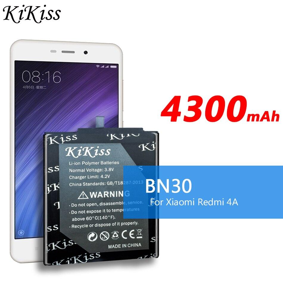 KiKiss-batería Original para Xiaomi Redmi 4A, Redrice 4A, Redmi Hongmi 4A, batería...