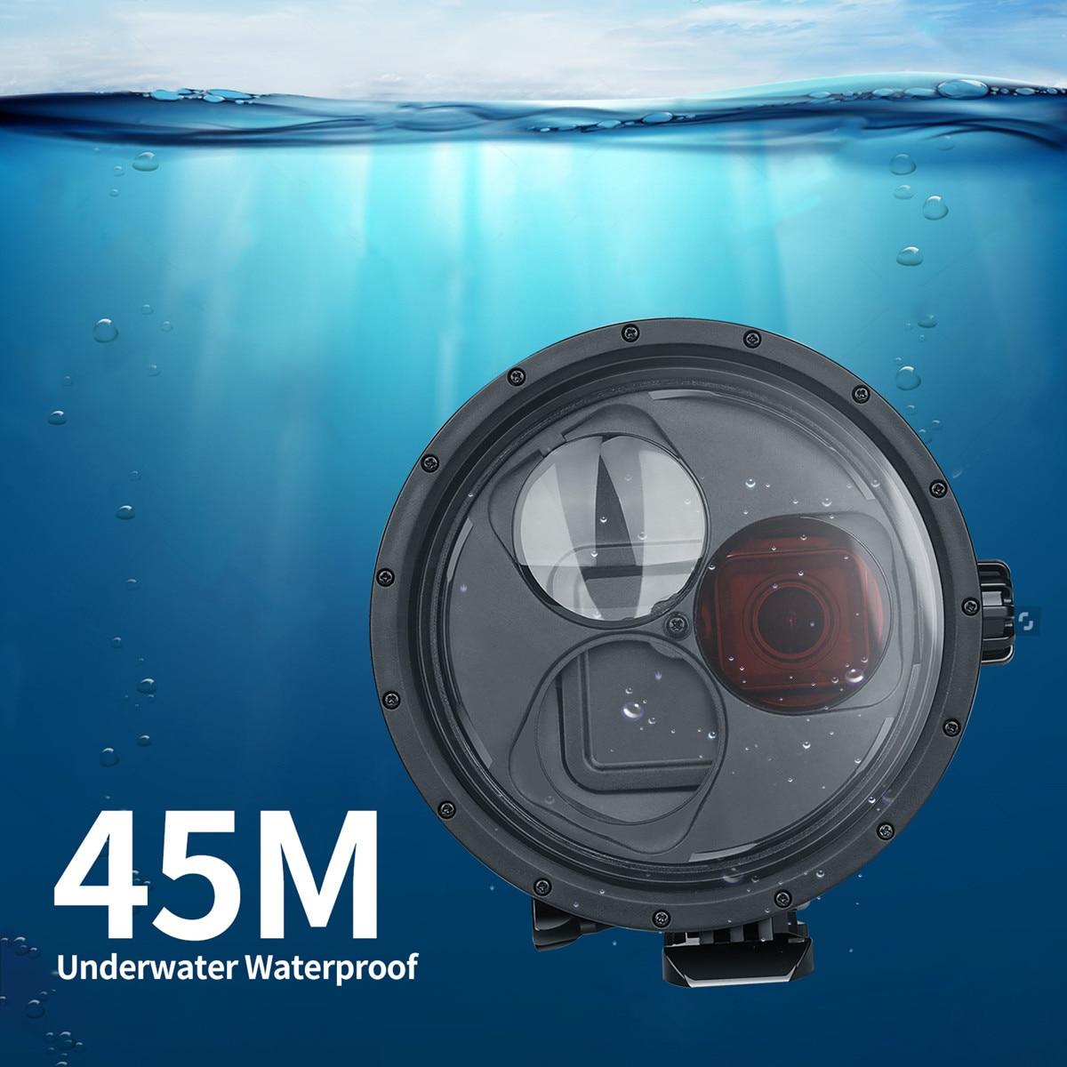 45M filtro subacuático conmutador Puerto Domo impermeable caso de buceo para Gopro 7 negro 6 5 accesorios de la cámara