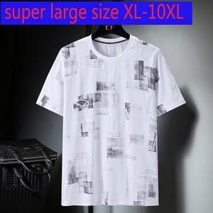 New Arrival Fashion Super Large Cotton Casual O-neck Print Knitted Short Sleeve T Shirt Plus Size XL2XL3XL4XL5XL6XL7XL8XL9XL10XL