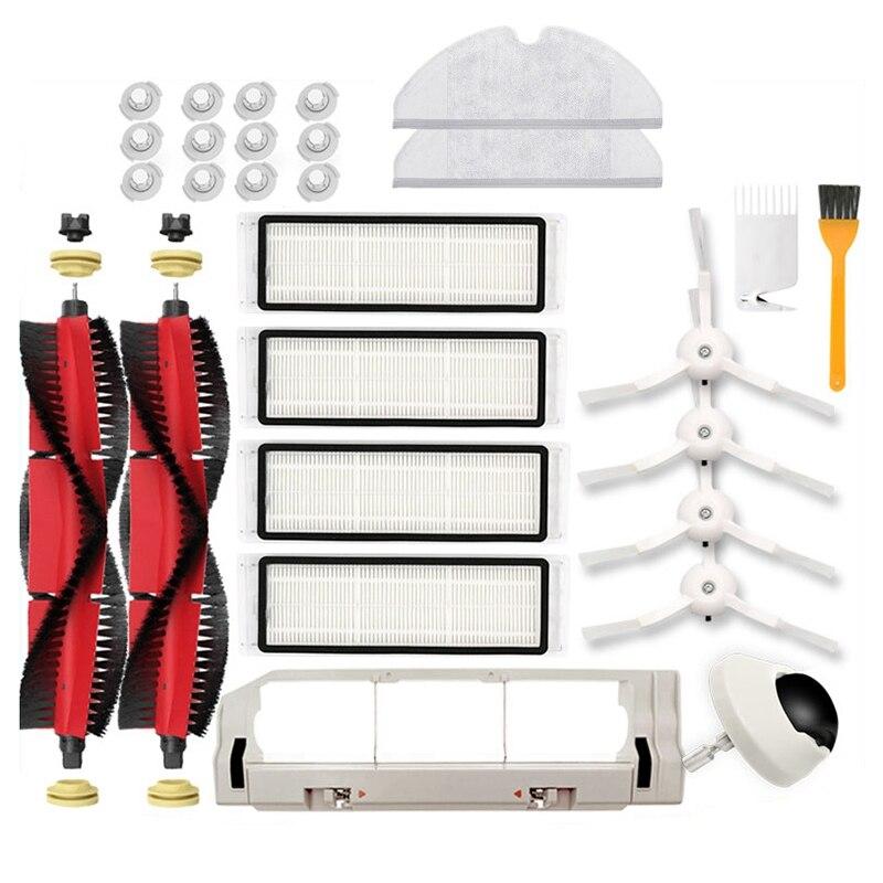 ترقية وظيفية! ل شاومي Roborock S6 S60 S65 S5 T6 S55 E25 اكسسوارات مكنسة كهربائية أجزاء قابل للغسل فلتر HEPA فرشاة الرئيسية الجانب Bru