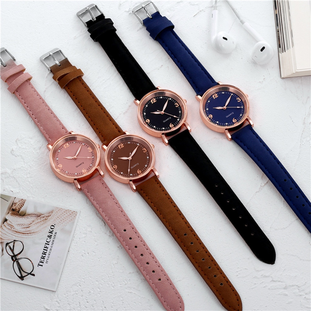 Luxury Sweet Watches For Girl Quartz Watch Dress Reloj Mujer Clock Stainless Steel Dial Casual Brace