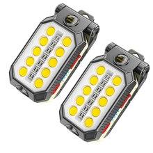 Luz de trabajo magnética LED COB, linterna portátil USB ajustable, resistente al agua, diseño magnético para acampar, con pantalla de alimentación