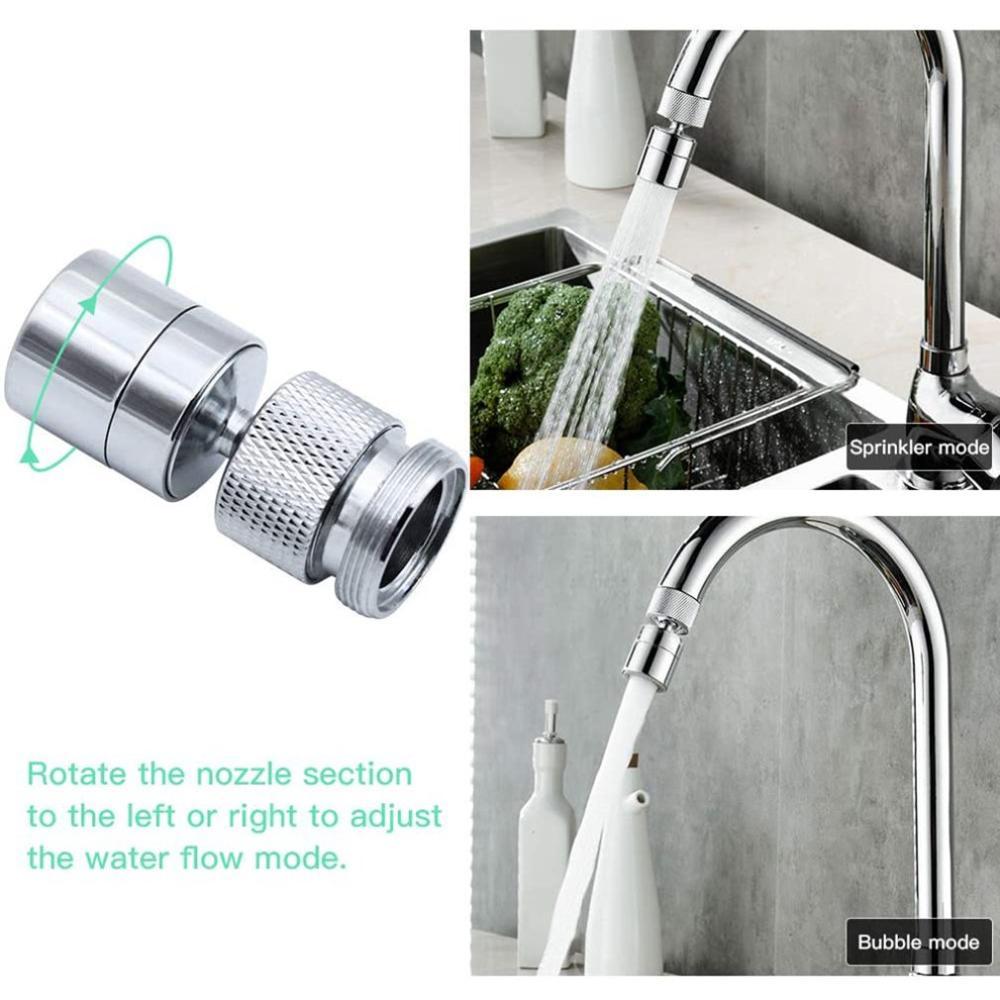 360 Gegree grifo giratorio Filtro de refuerzo ajustable 2 modos cocina baño cabezal de ducha para ahorrar agua grifo boquilla de aireador