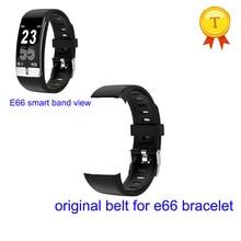 Черный, красный, синий силиконовый ремень для E66 температура тела ECG PPG Смарт часы Смарт браслет сменный ремешок на запястье