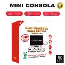 Mini rétro console 638 jeux portatil portable arcade jeu vidéo deux joueurs pour TV jeu console