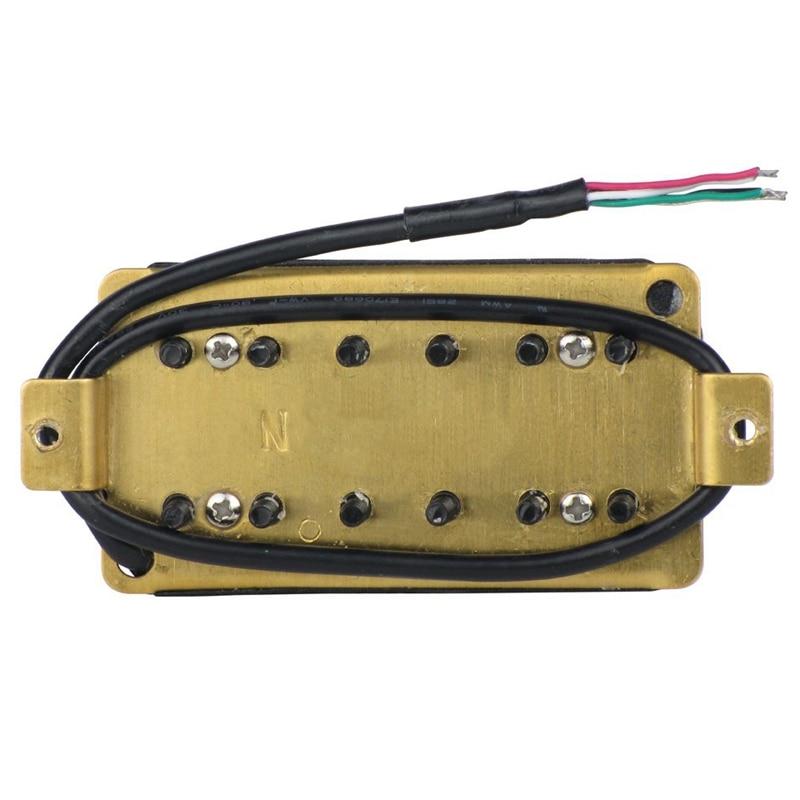 Electric Guitar Double Coil Humbucker Pickup Bridge/Neck Passive Pickup With Height Adjusting Screws enlarge