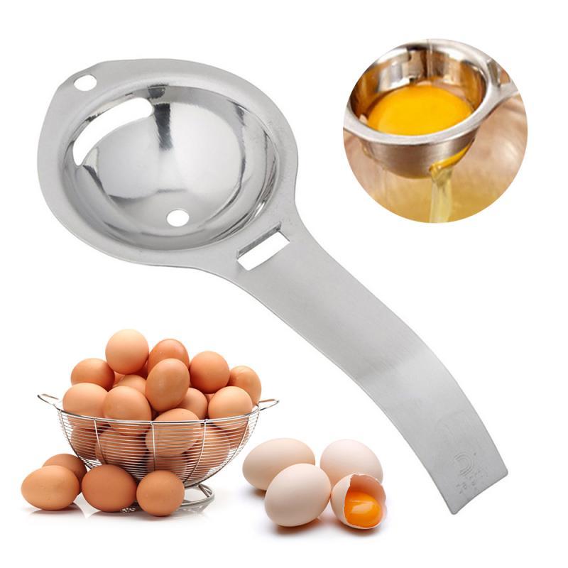 Egg Separator Egg Yolk White Filter Stainless Steel Egg Sieve Food Grade Egg Divider Kitchen Gadget Cooking/Baking Tool Egg Tool