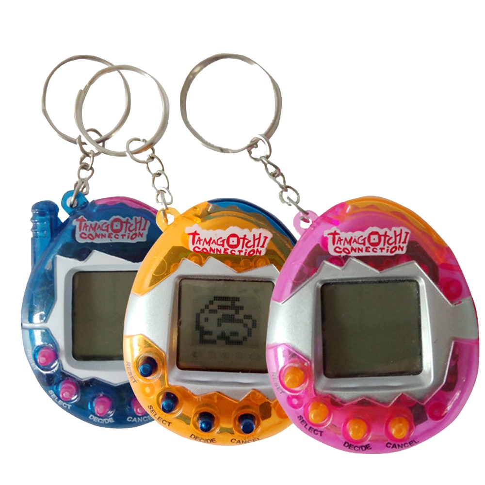 1PCs Transparent Tamagotchi Electronic Pets 90S Nostalgic 49 In One Virtual Cyber Toy Virtual  Toys Electronic  Robot Dog