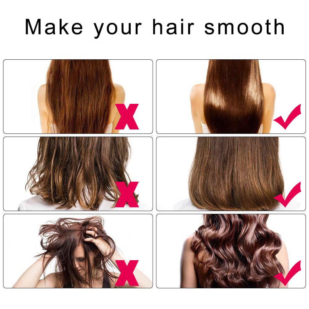 Hot Air Brush Electric Cold Hair Dryer Comb Curler Professional Straightener Iron Auto Rotation Volumizer Hairbrush Curling Wand enlarge