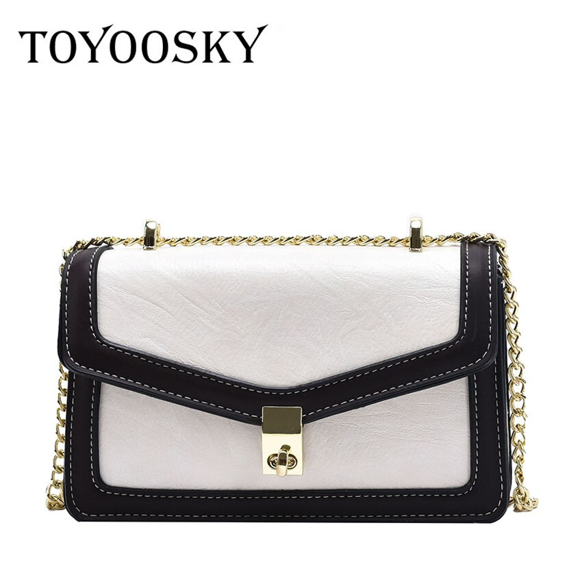 TOYOOSKY British Fashion Simple Small Square Bag Womens Designer Handbag 2020 High-quality PU Leather Chain Phone Shoulder Bags