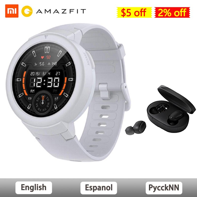 Reloj inteligente AMAZFIT Verge Lite versión Global IP68 impermeable Multi-deportes reloj inteligente Bip 2 GPS rastreador de salud