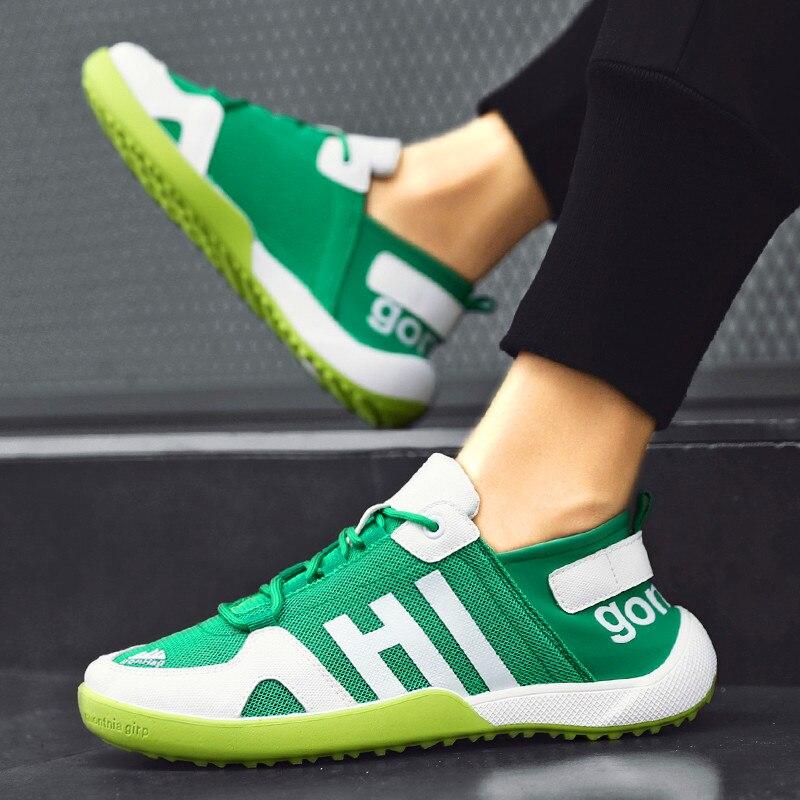 Zapatos informales de alta calidad para Hombre, zapatos Lac-up, gran malla calada, zapatos informales transpirables, Zapatillas de moda para Hombre