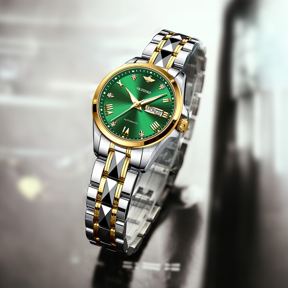 OUPINKE New Fashion Luxury Brand Women Mechanical Watch Female Clock Automatic Mechanical Watches For Women Montre Femme Gifts enlarge