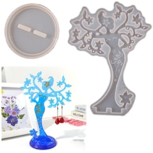 Flamboyant Woman Molds Trinket Tray Molds Full Dress Woman Display Tray Silicone Moulds for DIY Epox