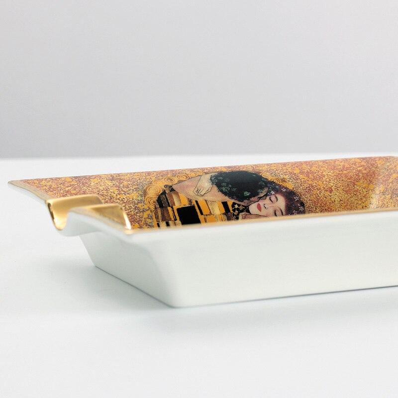 Oblong Cigar Ashtray Ceramic (Hold 2 Pcs) Character Cigar Ashtrays Ash Tray Utensils Smoking Supplies enlarge