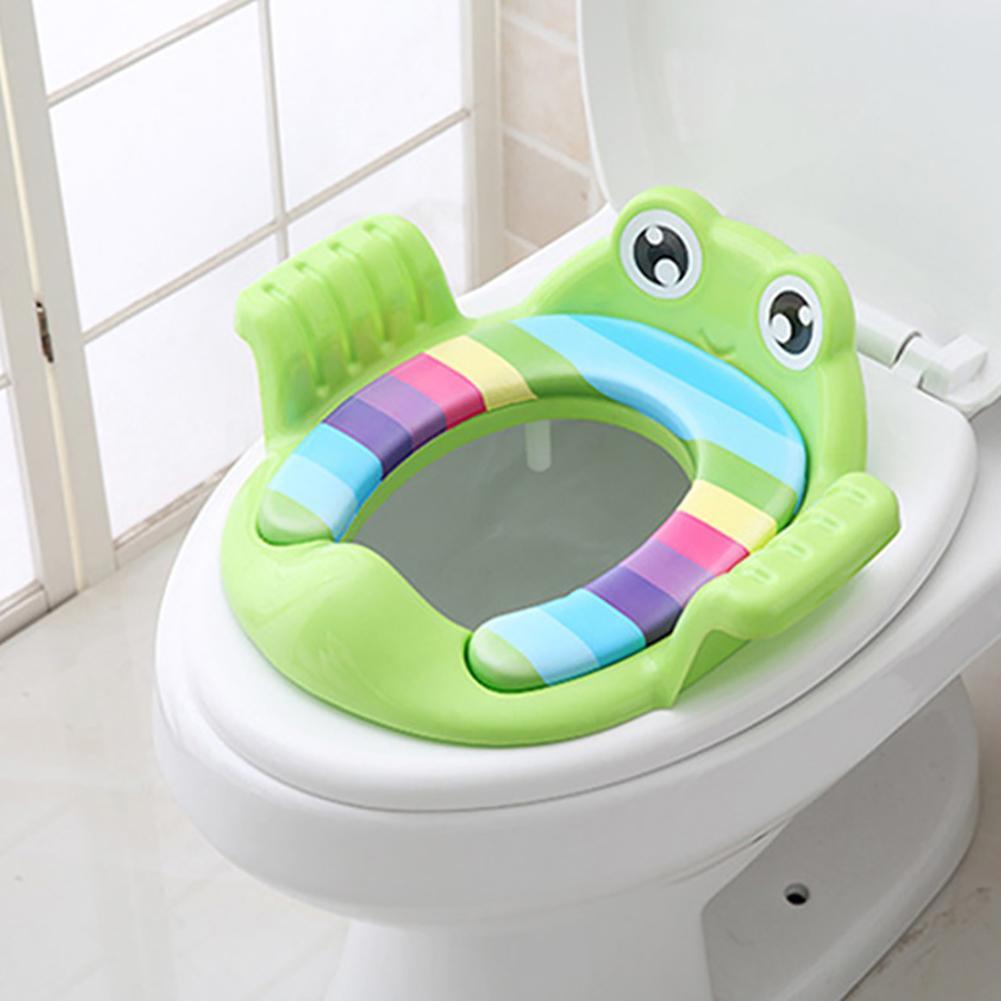 Детская мягкая круглая горшечка в форме лягушки унисекс, тренировочное сиденье для унитаза с ручками