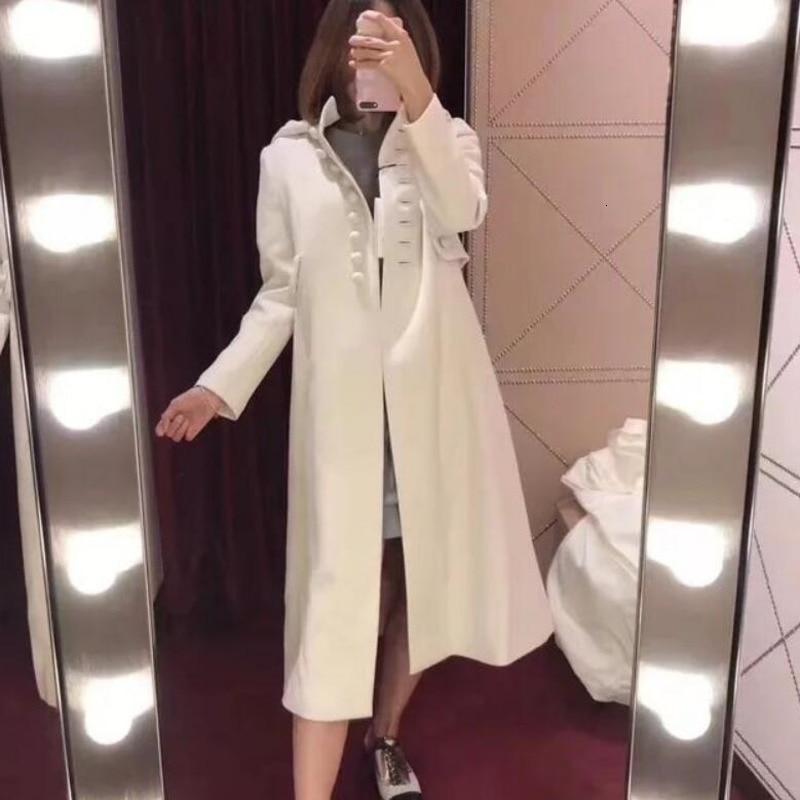 Otoño Invierno nuevos vestidos sencillos de Mujer de felpa de lana abrigo...
