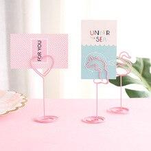 Clip cœur de licorne, pour carte de mariage, pour numéro de mémo, porte-notes Clips pour numéro et Message