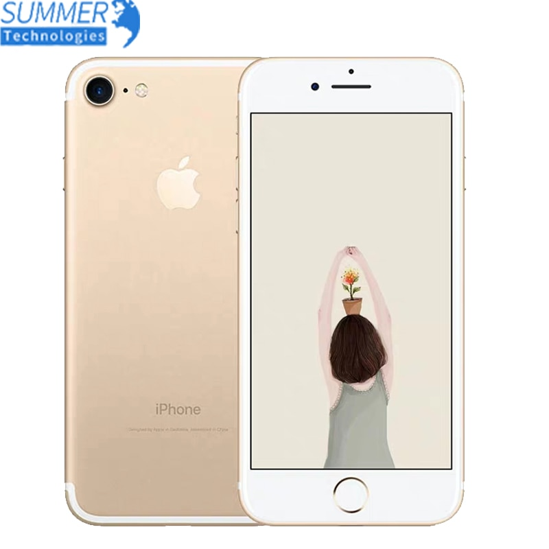 Apple iphone 7 impressão digital 12mp telefone celular original quad core 2gb ram 32/128gb/256gb ios touch id lte 12.0mp iphone7 apple