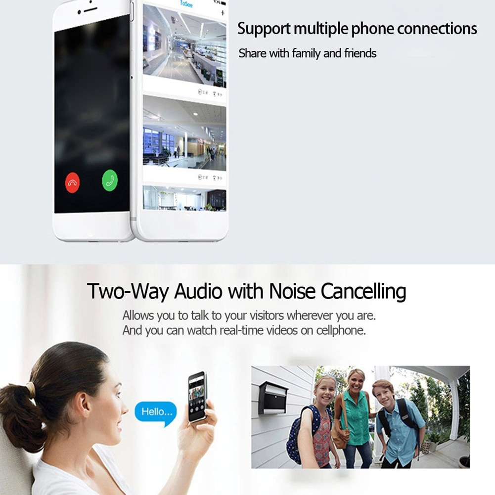 Tuya App Smart Home WIFI Video Peephole Doorbell 170 Degrees Wide Angle Infrared Night Vision Two-way Audio for Home Security enlarge