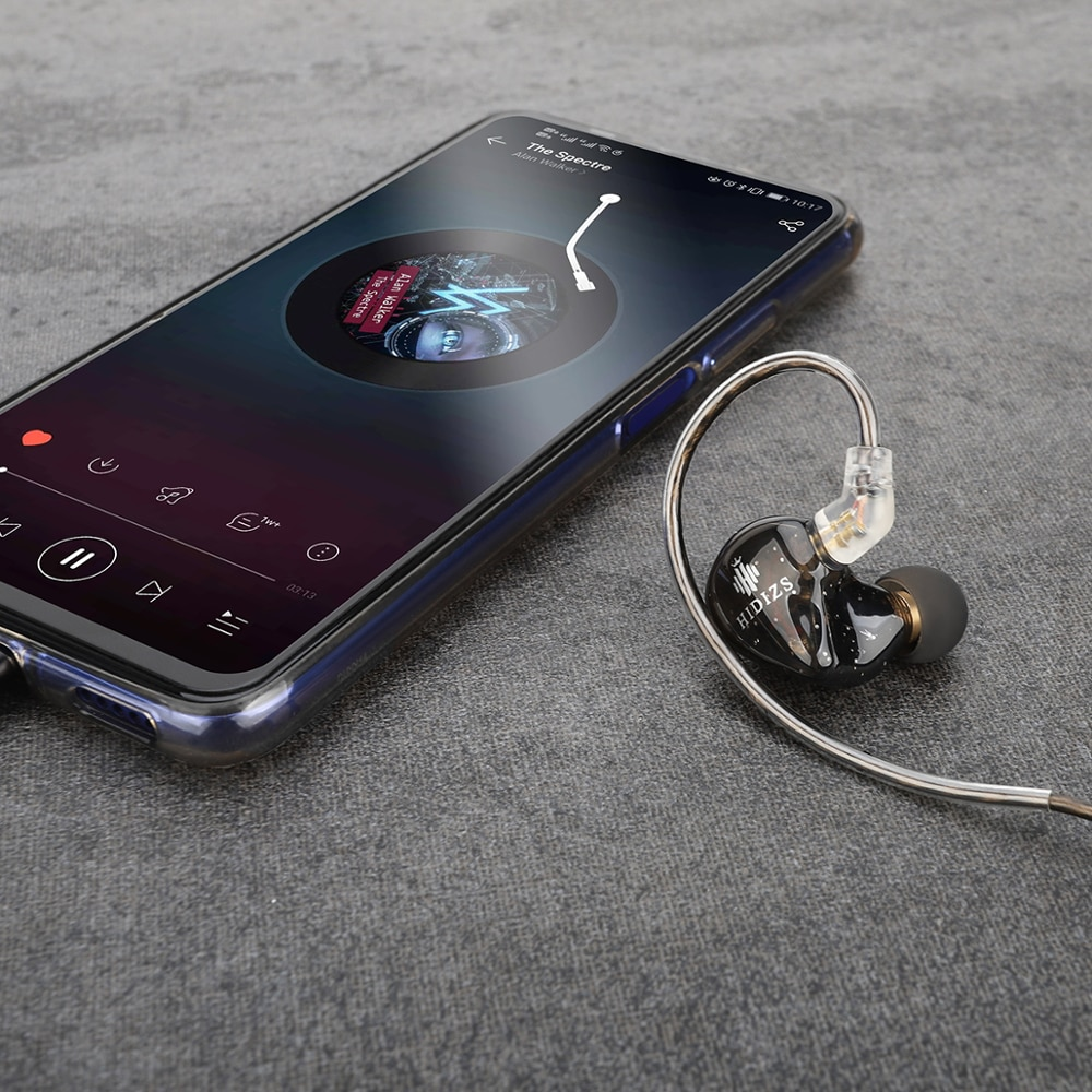 Hidizs MS1 Rainbow 3.5mm Headphones Wired Audiophile Dynamic Diaphragm Hi-Fi IEM Earphones with Detachable Cable enlarge