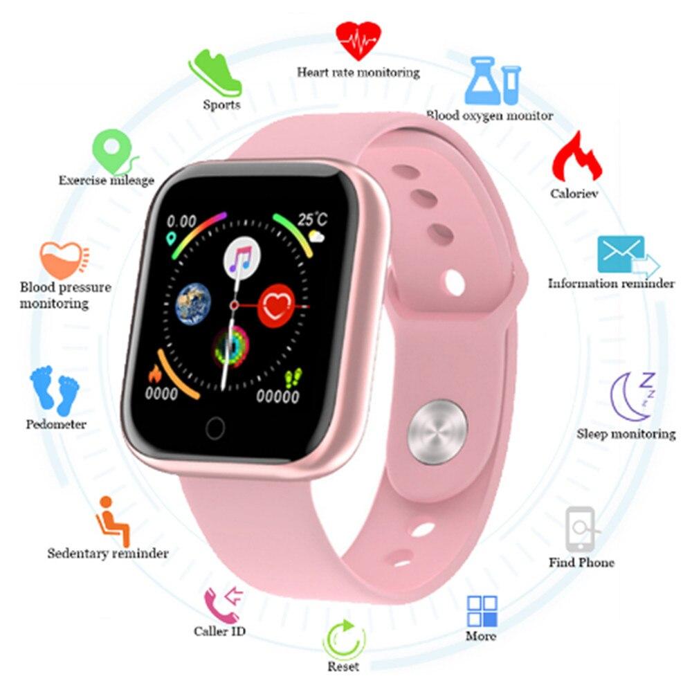 Relojes inteligentes con Bluetooth Y68 para hombres, pulsera inteligente impermeable para Fitness, Monitor de ritmo cardíaco y presión arterial, reloj inteligente