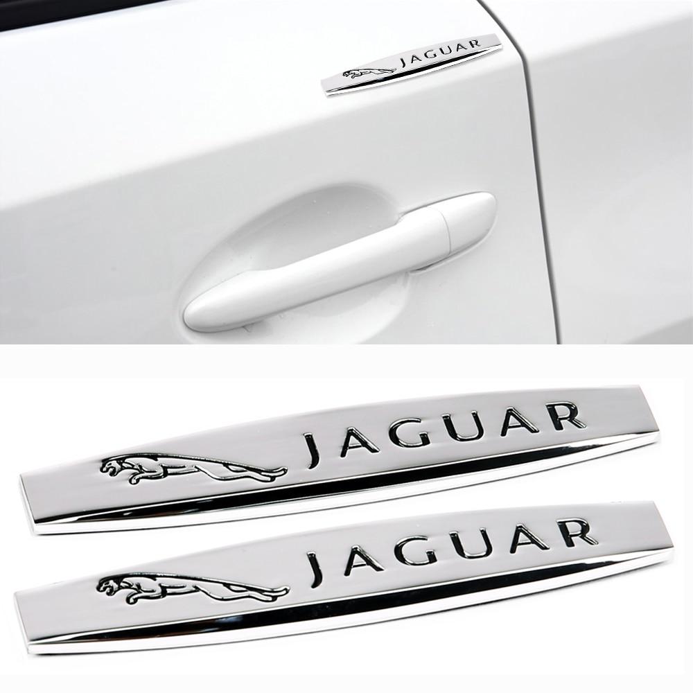 2 uds Exterior de Metal etiqueta Jaguar XF XFL XJ XJL XE XEL XK XKR XJ6 me ritmo Fpace Epace S-Tipo de tipo F Etype de Auto protección