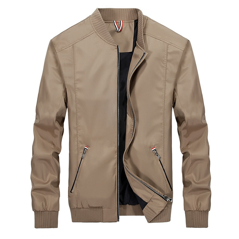 Abrigo cortavientos entallado para hombre de prendas de vestir a la moda......