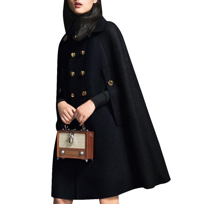 Capa de lana de talla grande 2XL párr mujer de abrigo de...