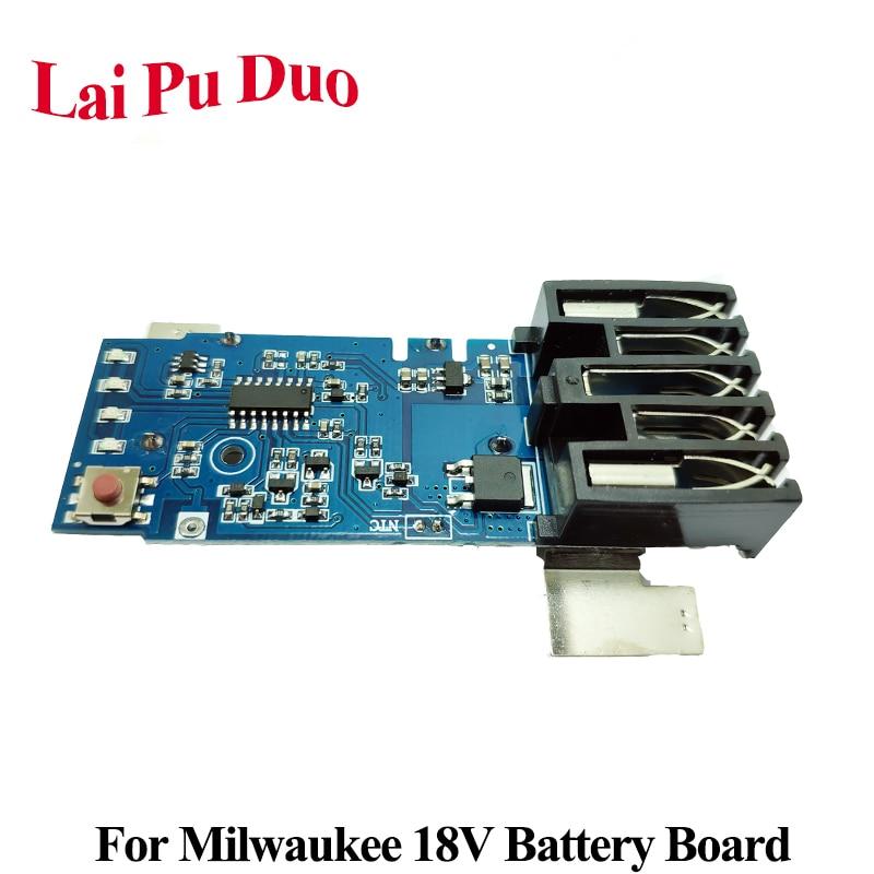 Para Milwaukee M18 18V reemplazo placa PCB herramienta eléctrica protección de la batería de litio placa de circuito
