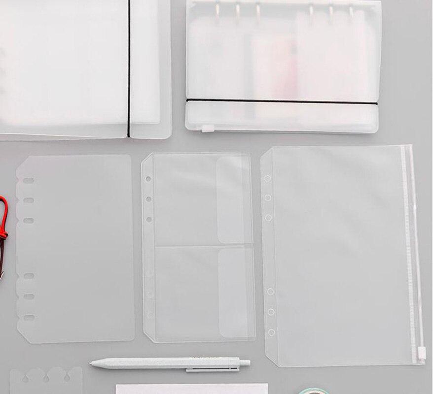 3 Pcs A5 A6 Transparante Kleur Pvc Binnenste Bladen Zakken Houder Voor Fotoalbum Scrapbook Props Stickers Opslag Zakken