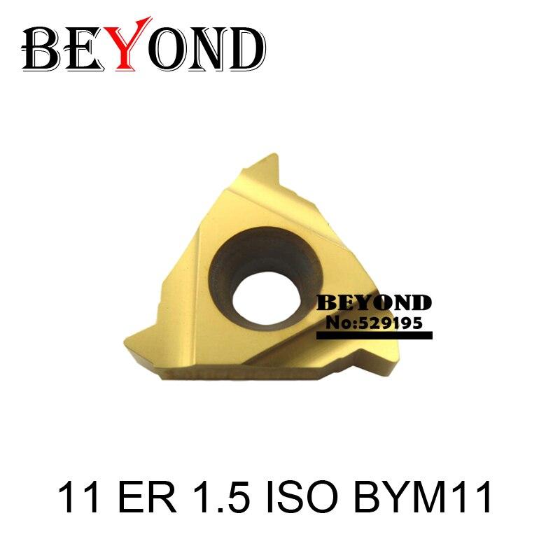 Más allá de 11ER 1,5 ISO BBM18 BYM11 insertos de carburo para enhebrar cnc torno herramientas SER SNL 11 ER blade SER1616 SER1212 acero