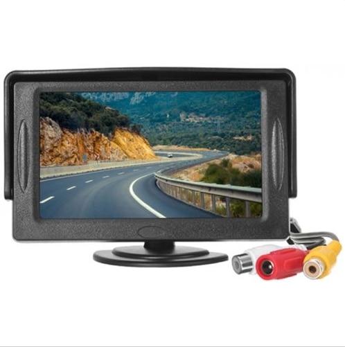 Auto Abnehmbare sonnenschirm high-definition 4,3-zoll auto monitor video eingang der parken kann rückansicht schwarz neue monitor