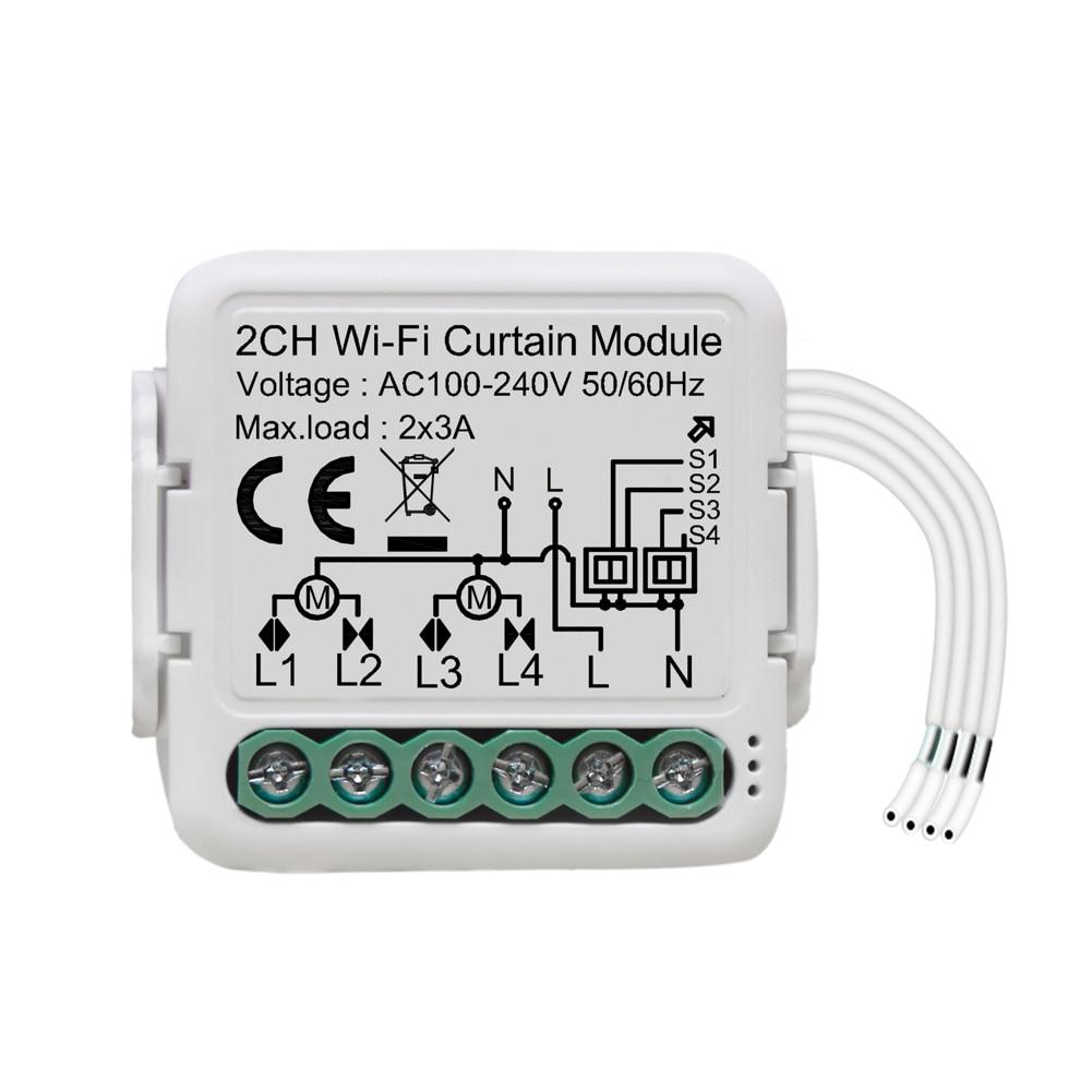 Tuya WiFi ذكي الستار وحدة تبديل اتجاهين التبديل المنزل الستار وحدة تقاسم توقيت APP التحكم عن بعد التحكم الصوتي