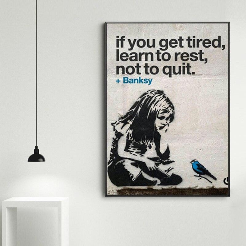 Se você se cansar aprender a descansar decoração para casa modular fotos da parede arte da lona pintura para sala de estar