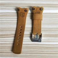 benyar orginal genuine leather band men watchbands brown black belt band 22mm