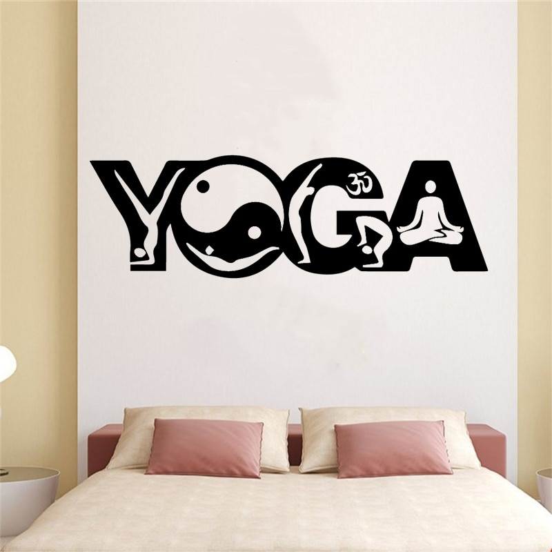 Pegatinas de pared impermeables de Yoga bonitas para decoración de pared para niños sala de estar decoración para el hogar Decoración Para el hogar fiesta papel tapiz