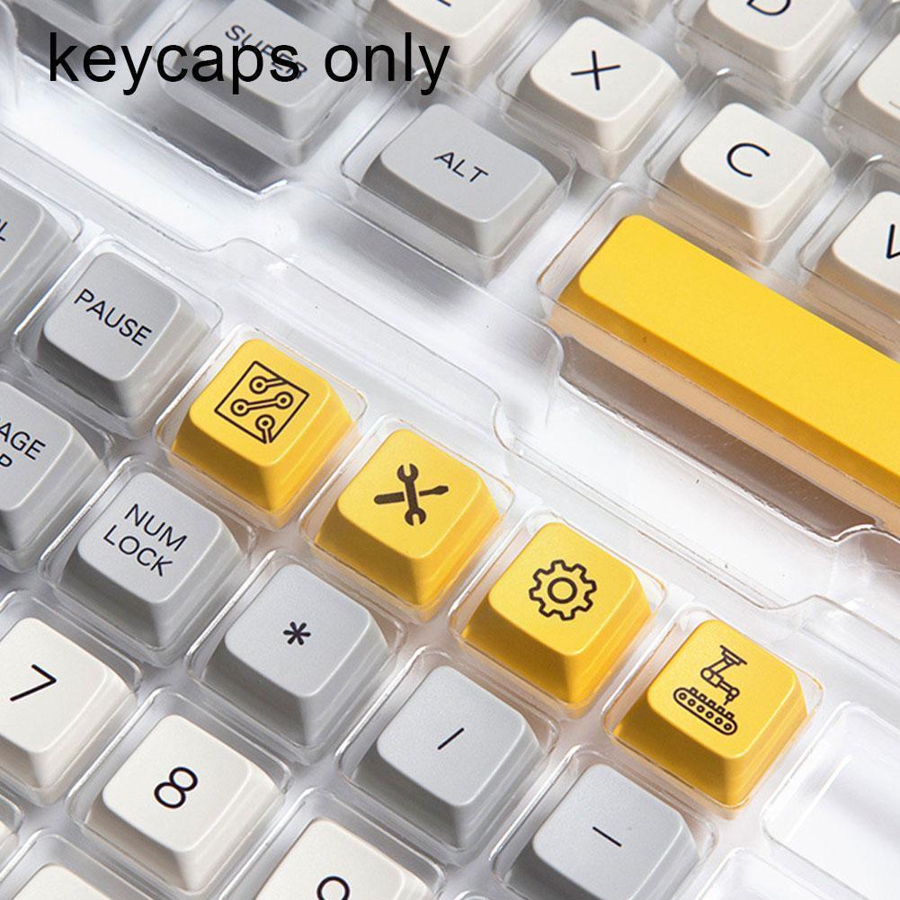الصناعة الثقيلة Keycap MDA الشخصي صبغ التسامي PBT Keycap مجموعة للوحة مفاتيح الألعاب الميكانيكية Gateron/Otemu/Kailh Z4W3