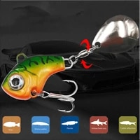 rotating metal vib vibration bait spinner spoon fishing lures 9131621g jigs trout winter fishing hard baits tackle pesca